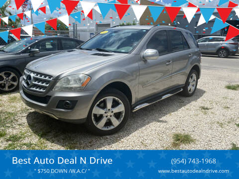 2009 Mercedes-Benz M-Class for sale at Best Auto Deal N Drive in Hollywood FL