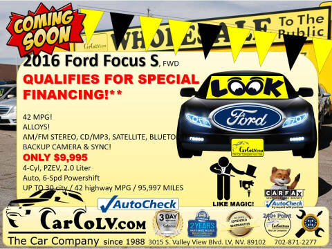 2016 Ford Focus for sale at The Car Company in Las Vegas NV