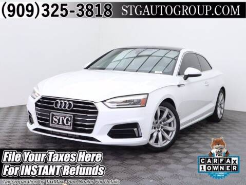 2018 Audi A5 for sale at STG Auto Group in Montclair CA