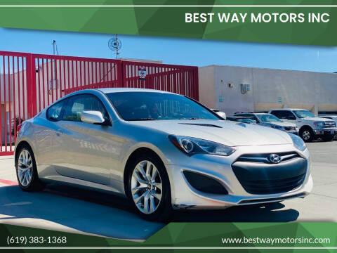 2013 Hyundai Genesis Coupe for sale at BEST WAY MOTORS INC in San Diego CA
