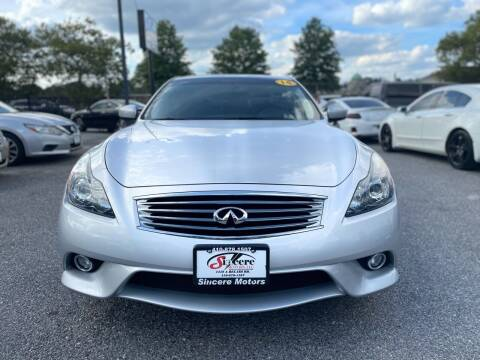 2014 Infiniti Q60 Coupe for sale at Sincere Motors LLC in Baltimore MD