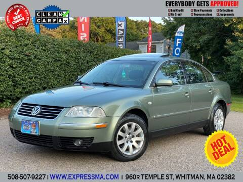 2002 Volkswagen Passat for sale at Auto Sales Express in Whitman MA