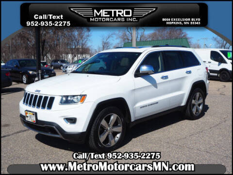2014 Jeep Grand Cherokee for sale at Metro Motorcars Inc in Hopkins MN