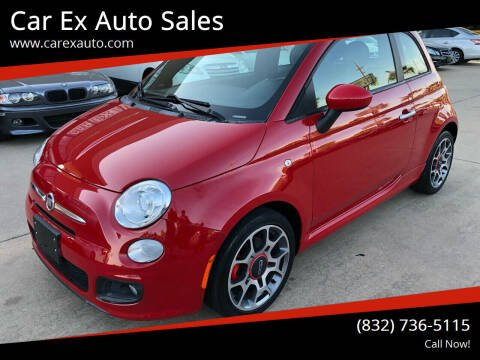 2012 FIAT 500 for sale at Car Ex Auto Sales in Houston TX