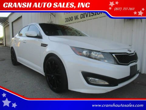 2012 Kia Optima for sale at CRANSH AUTO SALES, INC in Arlington TX
