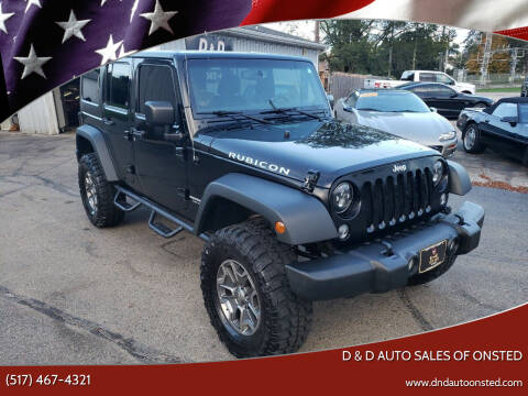2015 Jeep Wrangler Unlimited for sale at D & D Auto Sales Of Onsted in Onsted MI