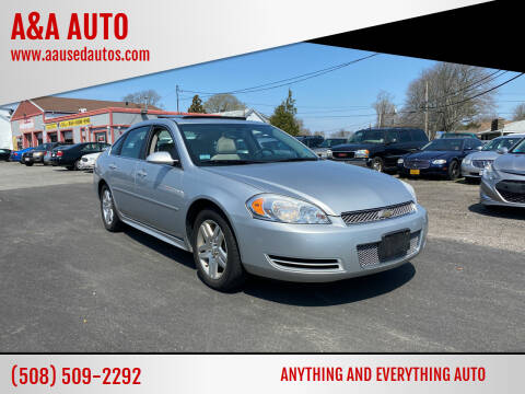 2012 Chevrolet Impala for sale at A&A AUTO in Fairhaven MA
