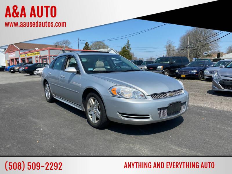 2012 Chevrolet Impala for sale at A&A AUTO in Fairhaven MA