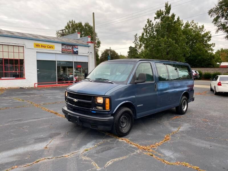 1999 Chevrolet Express Passenger for sale at Mebane Auto Trading in Mebane NC
