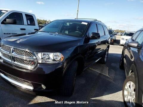 2013 Dodge Durango for sale at Matt Hagen Motors in Newport NC