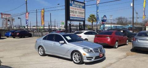 2012 Mercedes-Benz C-Class for sale at S.A. BROADWAY MOTORS INC in San Antonio TX