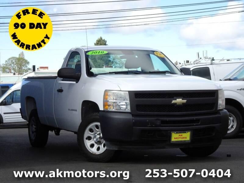 2010 Chevrolet Silverado 1500 for sale at AK Motors in Tacoma WA