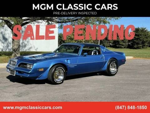 1978 Pontiac Trans Am for sale at MGM CLASSIC CARS-New Arrivals in Addison IL