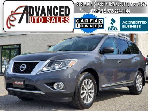 2013 Nissan Pathfinder for sale at Advanced Auto Sales in Dracut MA