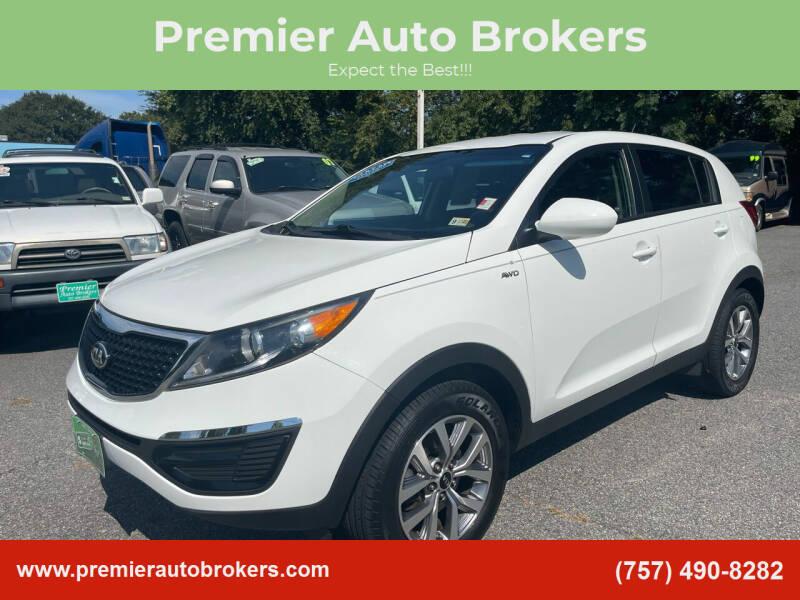 2016 Kia Sportage for sale at Premier Auto Brokers in Virginia Beach VA