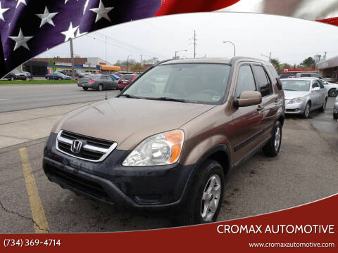 2002 Honda CR-V for sale at Cromax Automotive in Ann Arbor MI
