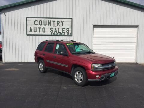 2002 Chevrolet TrailBlazer for sale at COUNTRY AUTO SALES LLC in Greenville OH