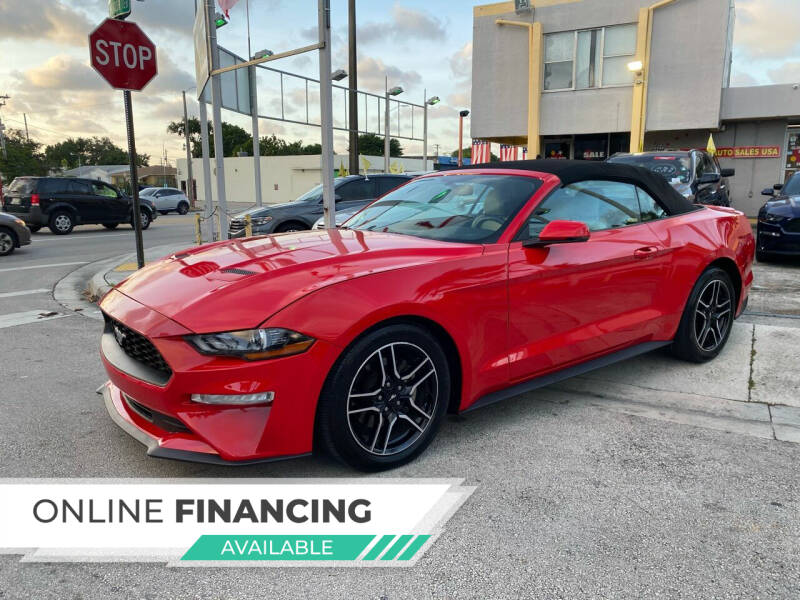 2018 Ford Mustang for sale at Global Auto Sales USA in Miami FL