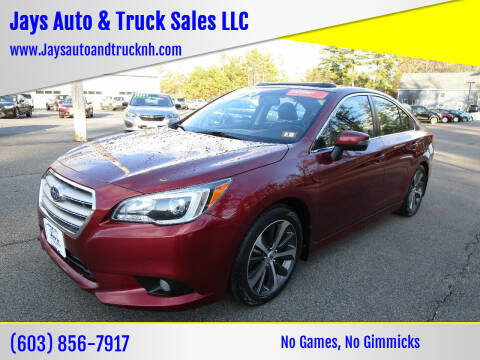 2015 Subaru Legacy for sale at Jays Auto & Truck Sales LLC in Loudon NH