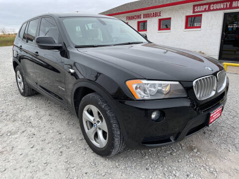 2012 BMW X3 for sale at Sarpy County Motors in Springfield NE