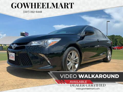 2017 Toyota Camry for sale at GOWHEELMART in Leesville LA
