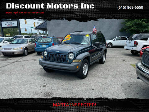 2005 Jeep Liberty for sale at Discount Motors Inc in Madison TN