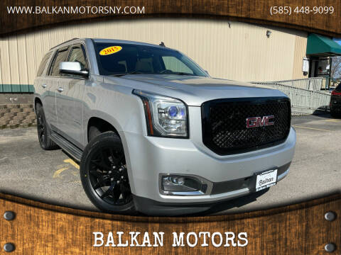 2015 GMC Yukon for sale at BALKAN MOTORS in East Rochester NY
