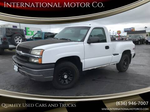 2003 Chevrolet Silverado 1500 for sale at International Motor Co. in St. Charles MO