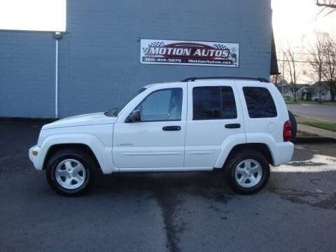 2004 Jeep Liberty for sale at Motion Autos in Longview WA