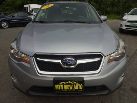 2015 Subaru XV Crosstrek for sale at MOUNTAIN VIEW AUTO in Lyndonville VT