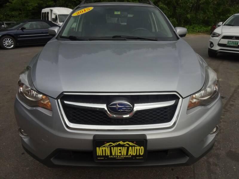 2015 Subaru XV Crosstrek for sale at MOUNTAIN VIEW AUTO in Lyndonville VT