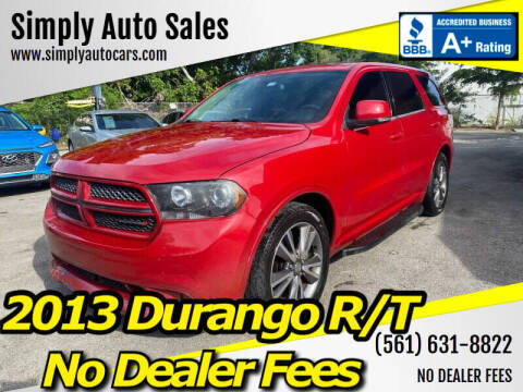 2013 Dodge Durango for sale at Simply Auto Sales in Palm Beach Gardens FL
