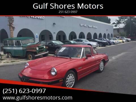 1988 Alfa Romeo Spider for sale at Gulf Shores Motors in Gulf Shores AL