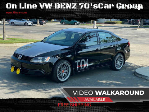 2012 Volkswagen Jetta for sale at On Line VW BENZ 70'sCar Group in Warehouse CA