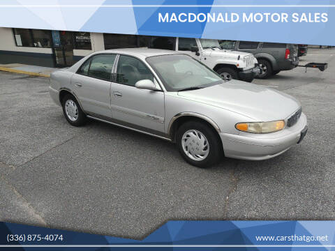2002 Buick Century for sale at MacDonald Motor Sales in High Point NC