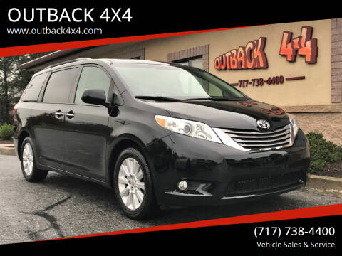 2015 Toyota Sienna for sale at OUTBACK 4X4 in Ephrata PA