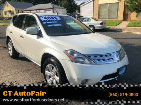 2007 Nissan Murano for sale at CT AutoFair in West Hartford CT