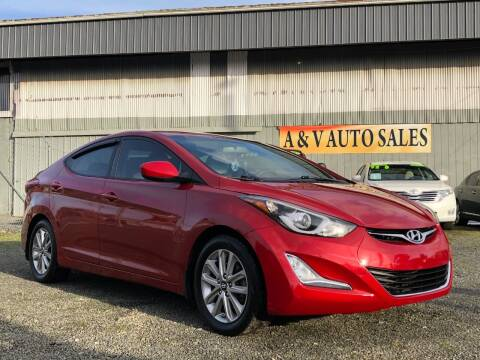 2016 Hyundai Elantra for sale at A & V AUTO SALES LLC in Marysville WA