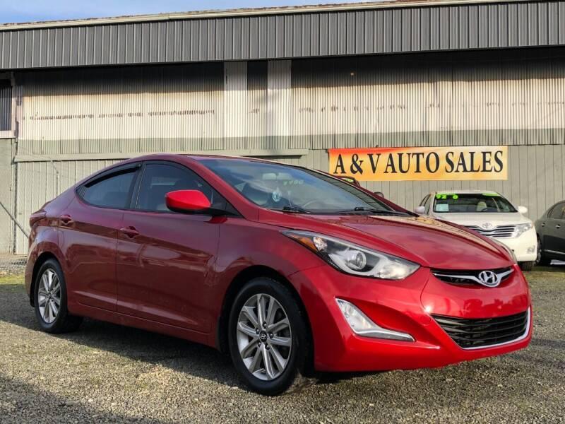 2016 Hyundai Elantra for sale at A & V AUTO SALES LLC in Marysville WA