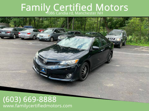 2013 Toyota Camry for sale at Family Certified Motors in Manchester NH