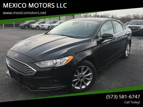 2017 Ford Fusion for sale at MEXICO MOTORS LLC in Mexico MO