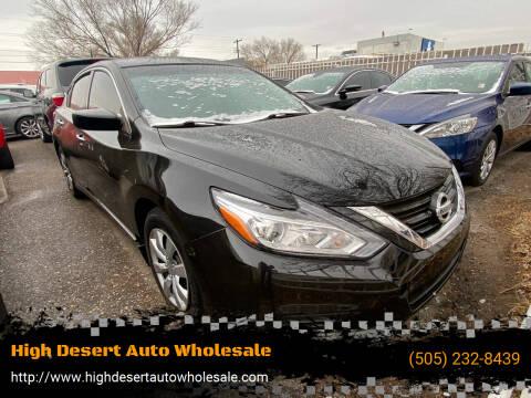 2017 Nissan Altima for sale at High Desert Auto Wholesale in Albuquerque NM