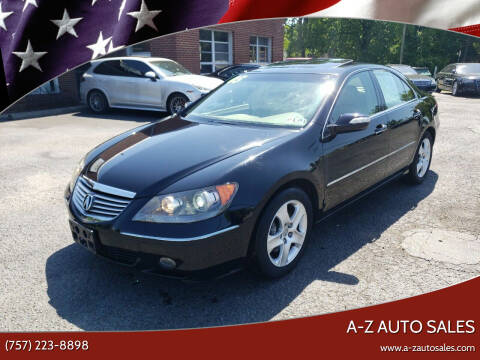 2005 Acura RL for sale at A-Z Auto Sales in Newport News VA