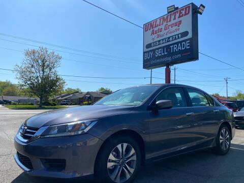 2015 Honda Accord for sale at Unlimited Auto Group in West Chester OH