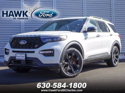 2021 Ford Explorer for sale at Hawk Ford of St. Charles in St Charles IL