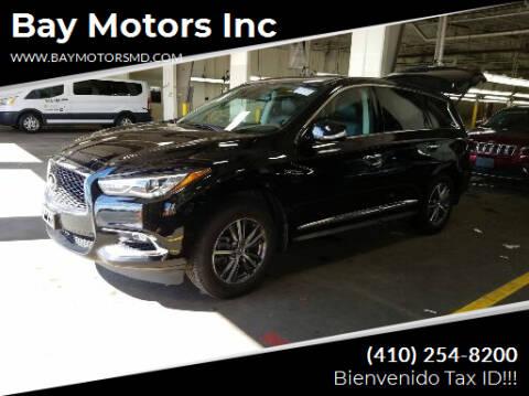 2020 Infiniti QX60 for sale at Bay Motors Inc in Baltimore MD