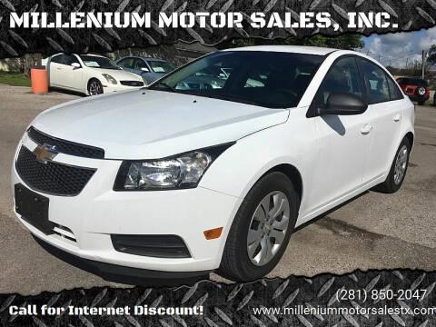2013 Chevrolet Cruze for sale at MILLENIUM MOTOR SALES, INC. in Rosenberg TX