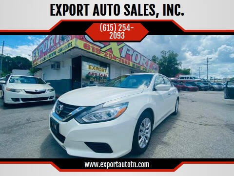 2016 Nissan Altima for sale at EXPORT AUTO SALES, INC. in Nashville TN