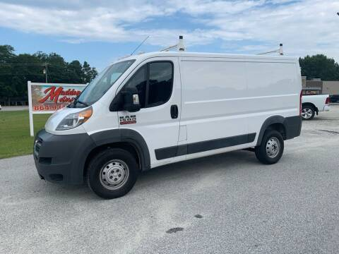 2018 RAM ProMaster Cargo for sale at Madden Motors LLC in Iva SC