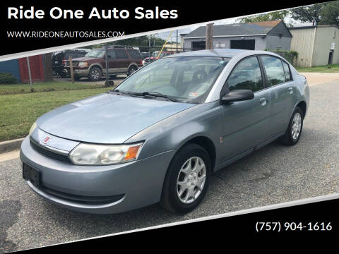 2003 Saturn Ion for sale at Ride One Auto Sales in Norfolk VA